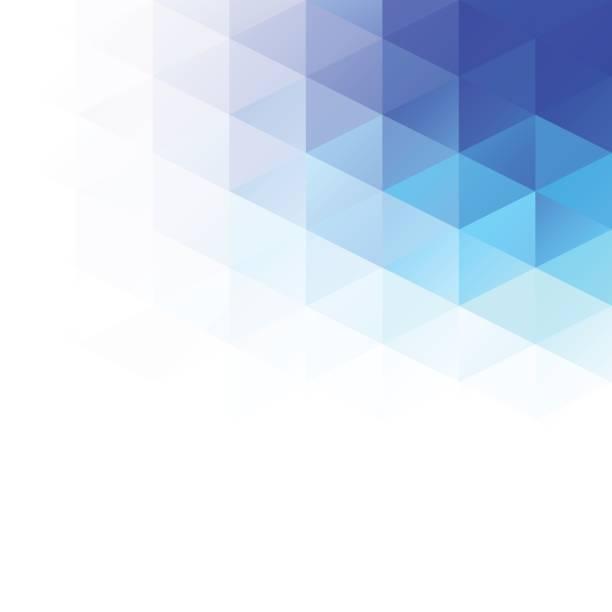 Blue Grid Mosaic Background, Creative Design Templates vector art illustration
