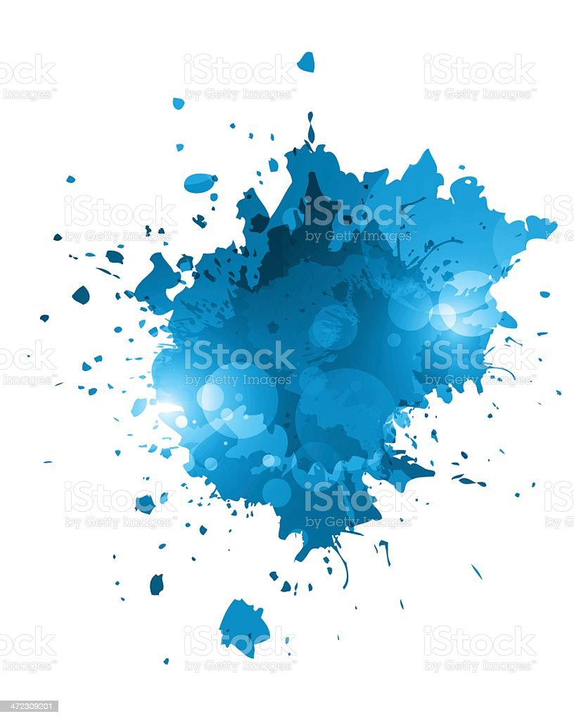 Blue grunge splashes royalty-free stock vector art