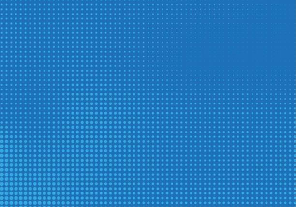 Blue Halftone Background Blue Halftone Vector Background blue background stock illustrations