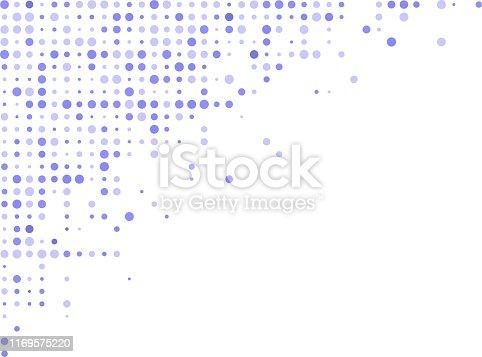 blue halftone corner design