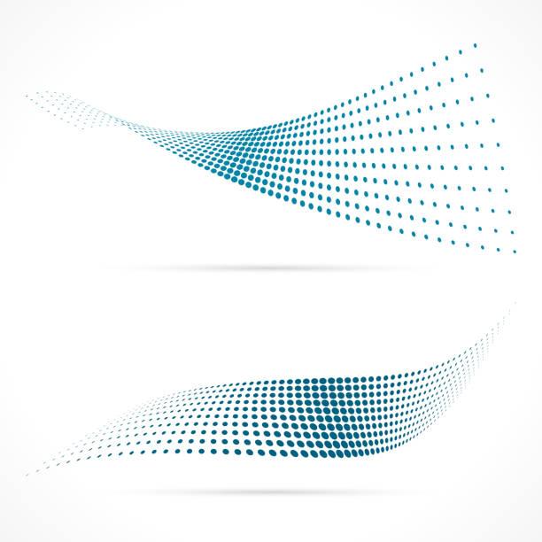 blaue halbton vektor - verdreht stock-grafiken, -clipart, -cartoons und -symbole