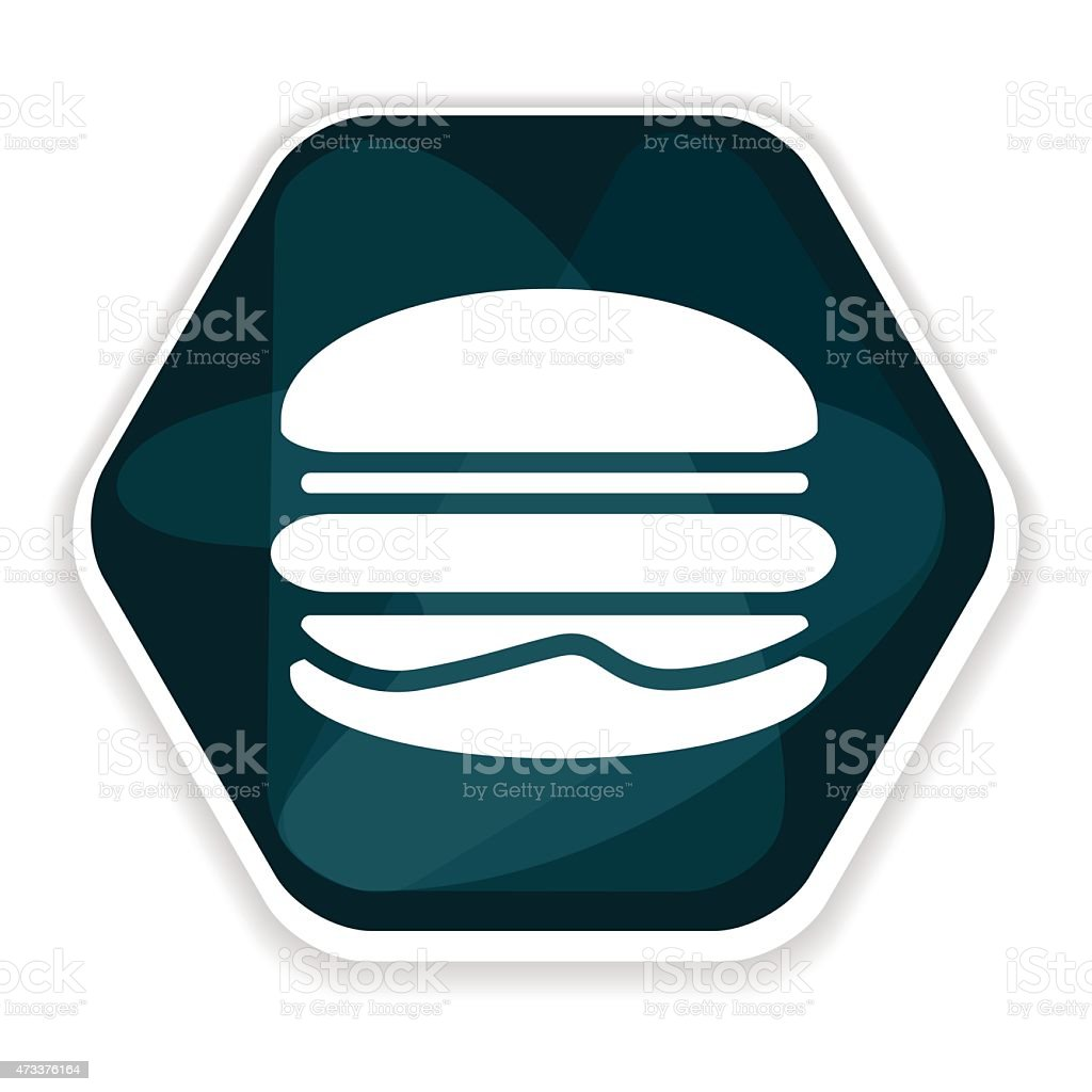 Blue hamburger vector icon vector art illustration