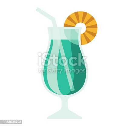 istock Blue Hawaiian Icon on Transparent Background 1283608703