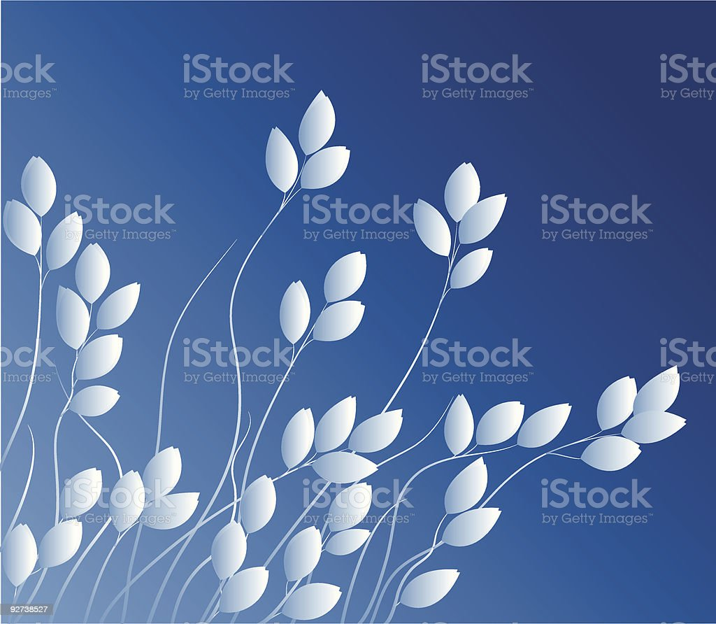 Blue Herbage royalty-free stock vector art
