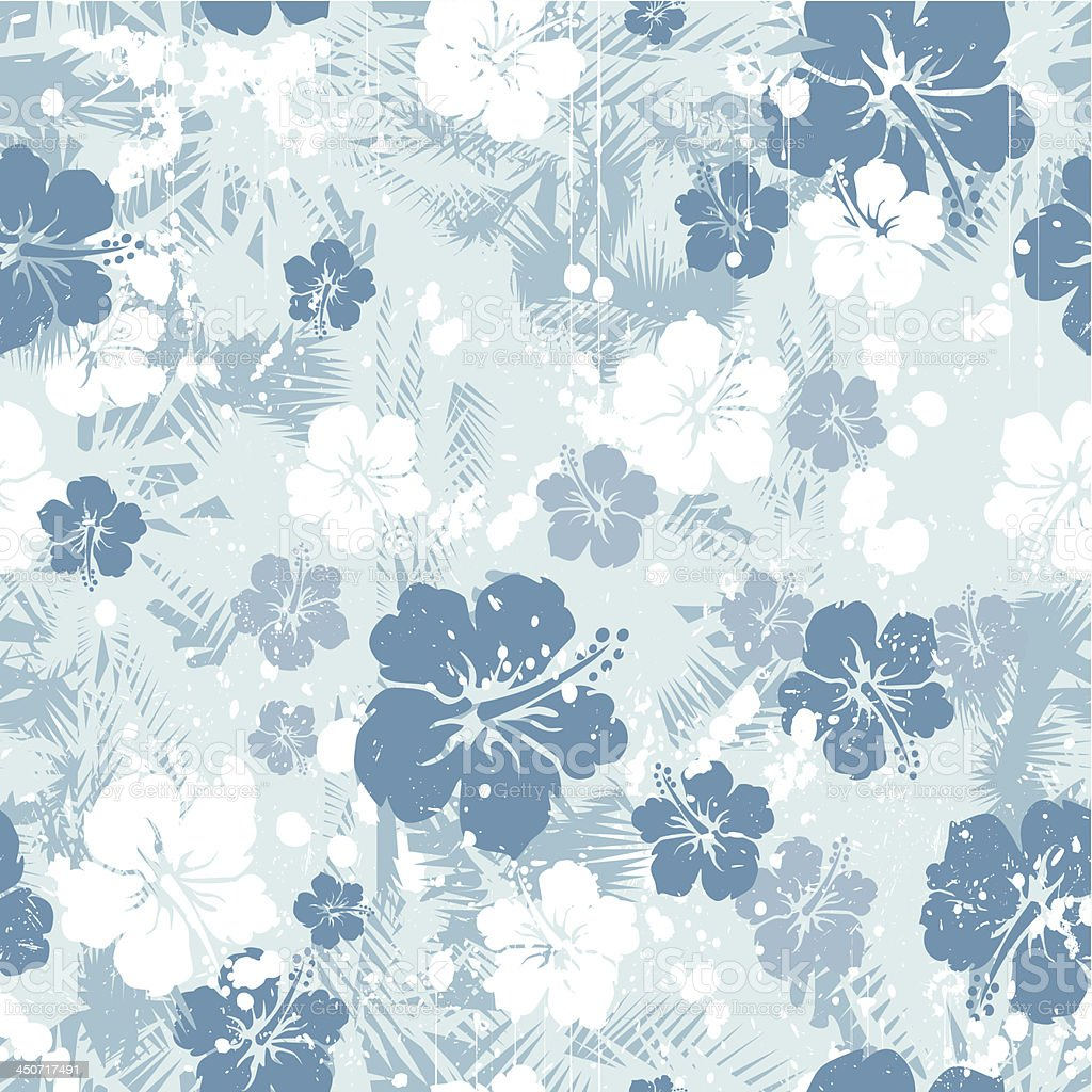 Blue hibiscus seamless royalty-free blue hibiscus seamless stock vector art & more images of backgrounds