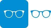 Blue Hipster Eyeglasses Icons