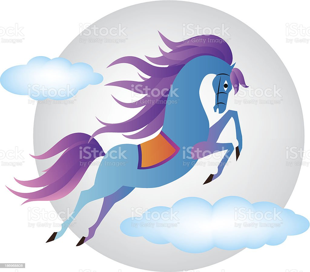 Blue Horse. New year. Vector illustration royalty-free blue horse new year vector illustration stock vector art & more images of abstract