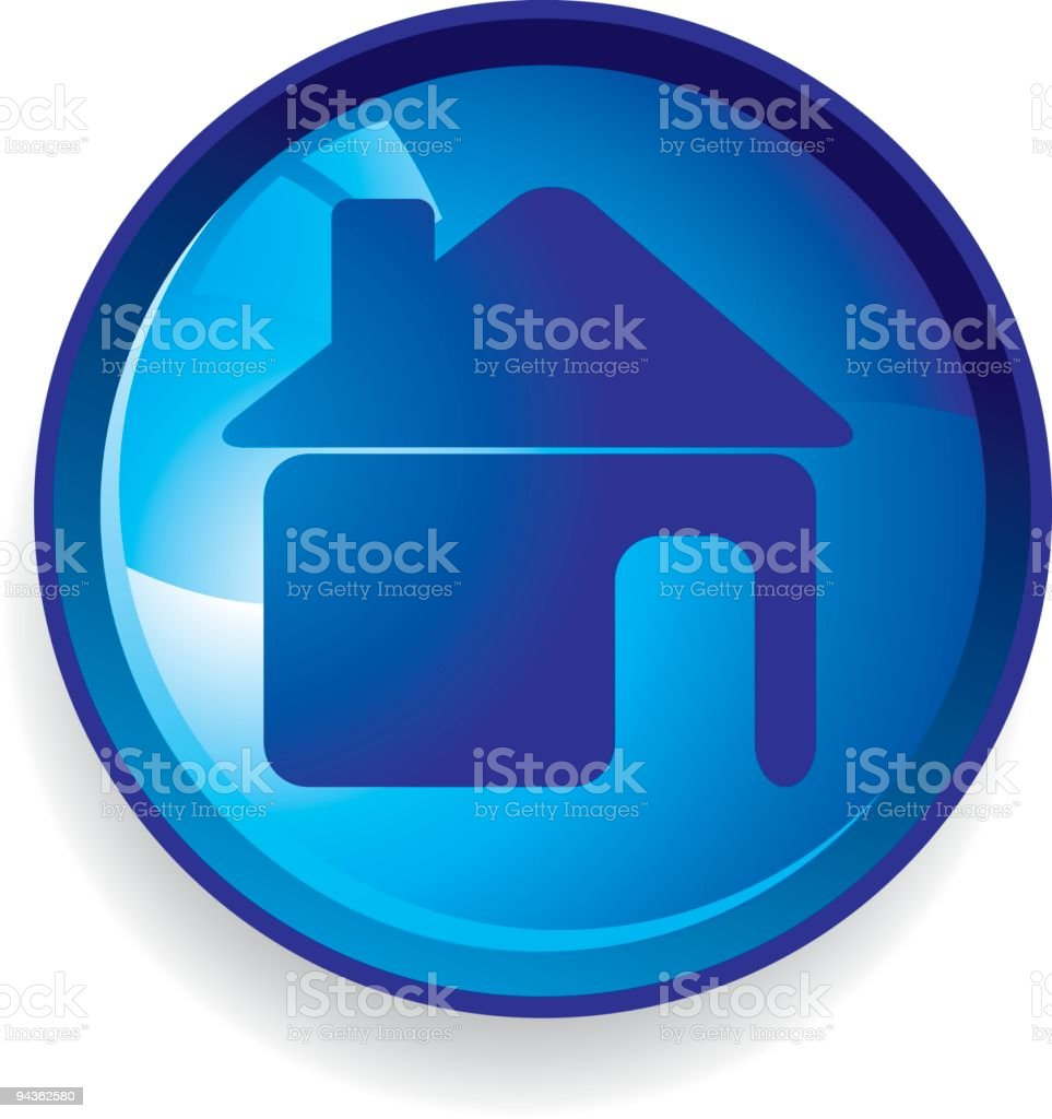Blue House Icon royalty-free stock vector art