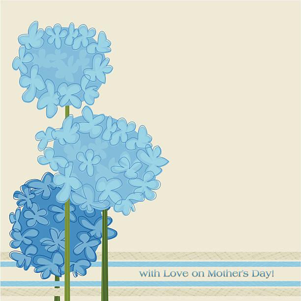 illustrazioni stock, clip art, cartoni animati e icone di tendenza di ortensie blu - love word