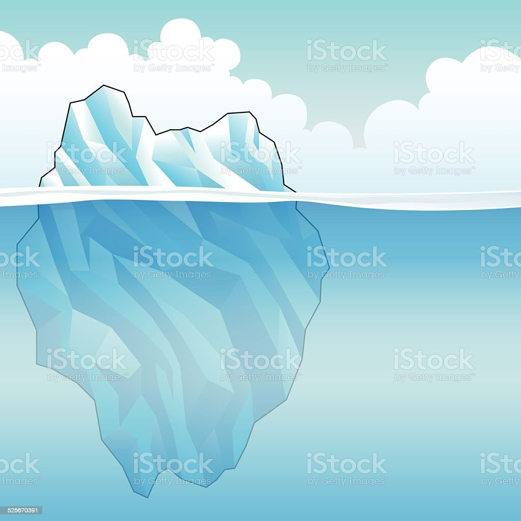 Blue Iceberg Vector Illustration vector art illustration