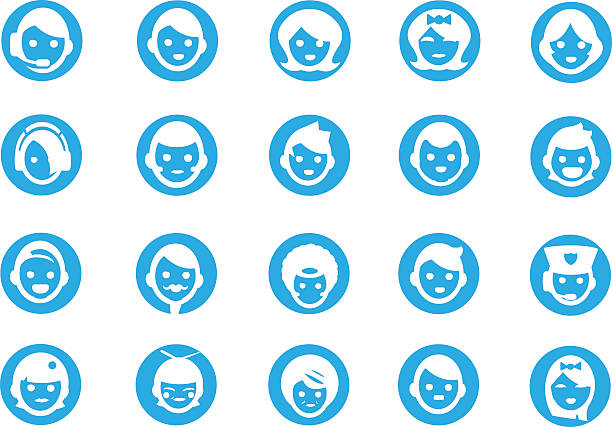 blue icon faces - old man crying clip art stock illustrations, clip art, cartoons, & icons