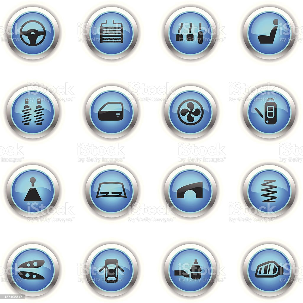 Blue Icons - Car Parts royalty-free blue icons car parts stock vector art & more images of auto repair shop