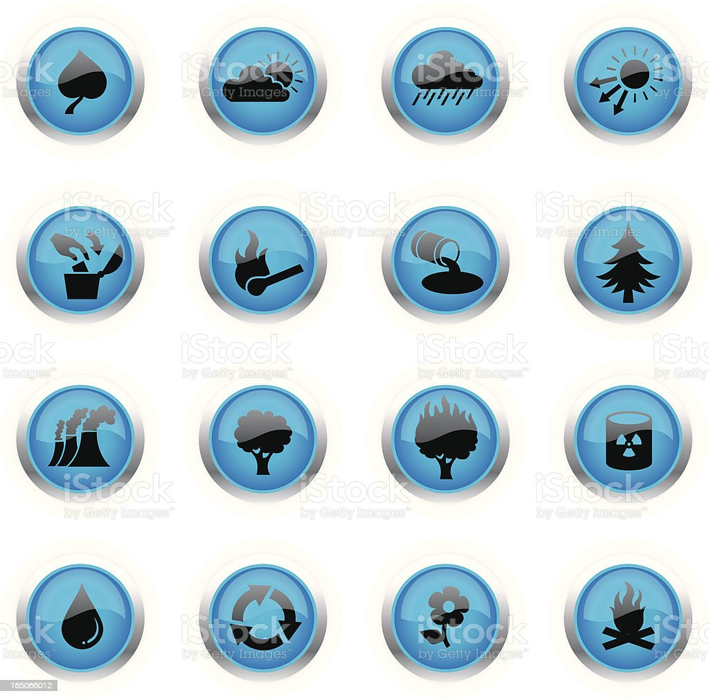 Blue Icons - Eco royalty-free stock vector art