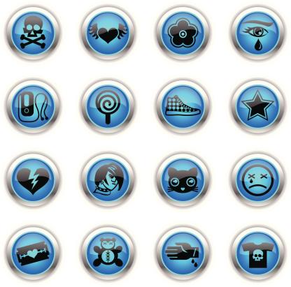 Blue Icons -  Emo