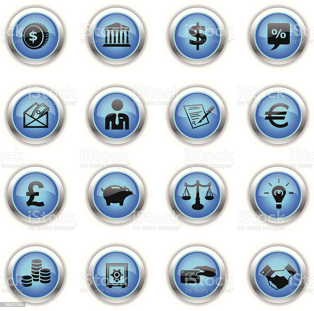 Blue Icons - Finance royalty-free stock vector art