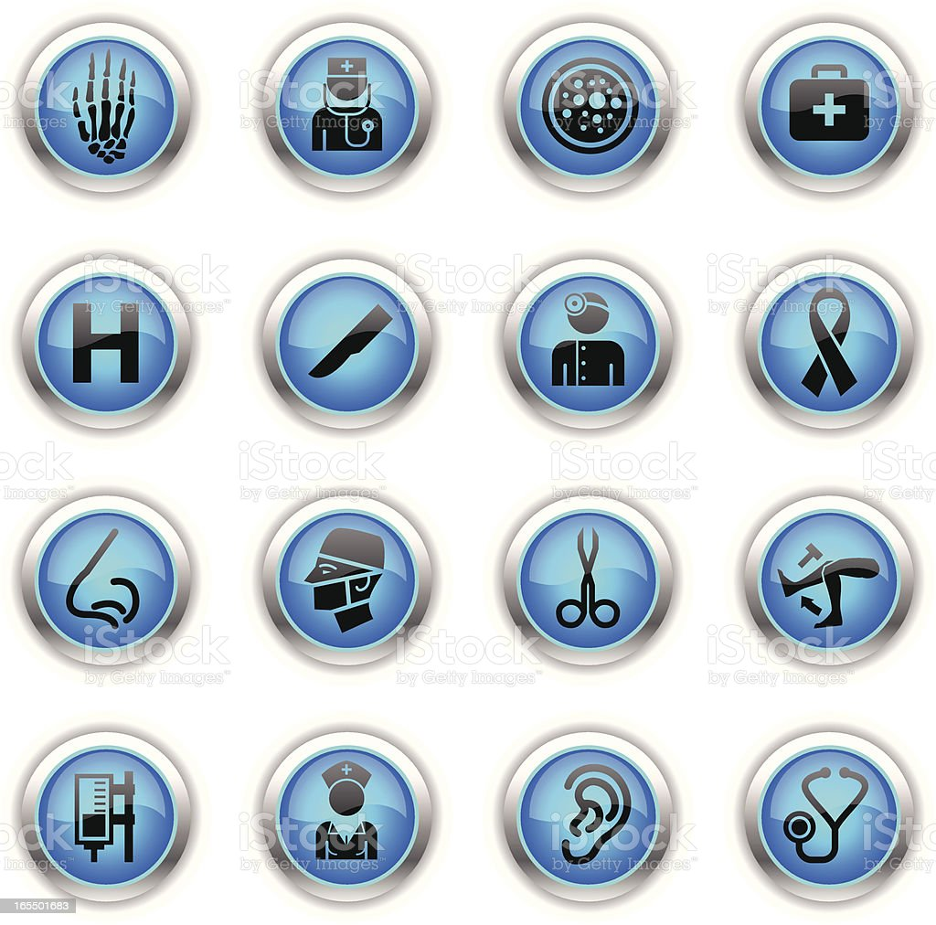 Blue Icons - Hospital royalty-free stock vector art