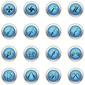Blue Icons - Ninja Weapons