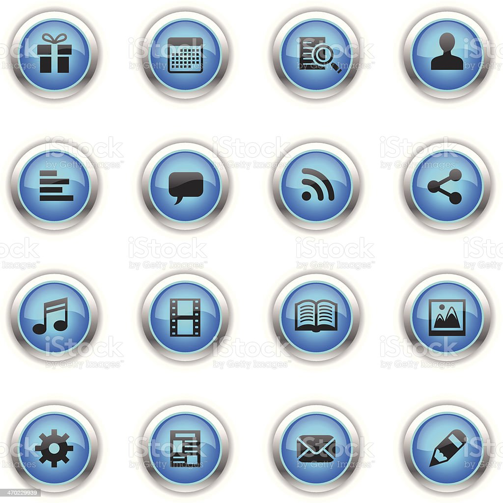 Blue Icons - Social Network royalty-free stock vector art