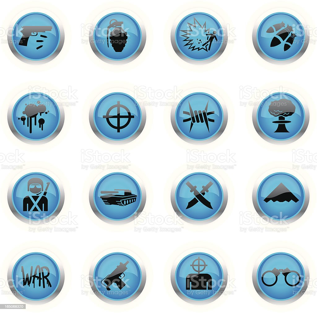 Blue Icons - War royalty-free blue icons war stock vector art & more images of accidents and disasters