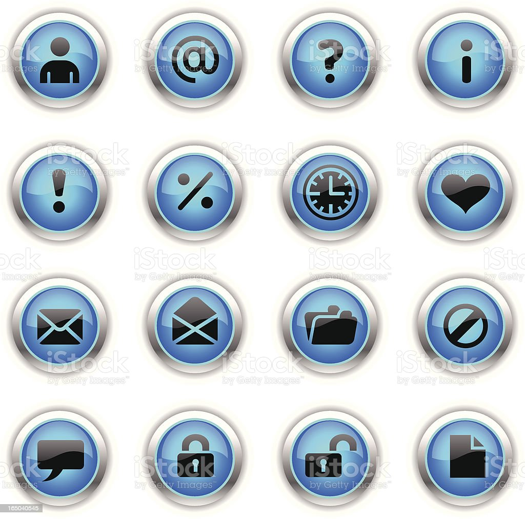 Blue Icons - Web royalty-free blue icons web stock vector art & more images of blue