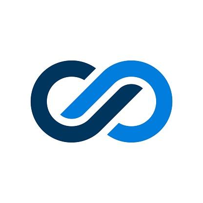 Blue Infinity Vector Logo Template Illustration Design. Vector EPS 10.