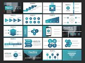 Blue Infographic presentation templates elements flat design set,annual report,flyer,brochure templates set