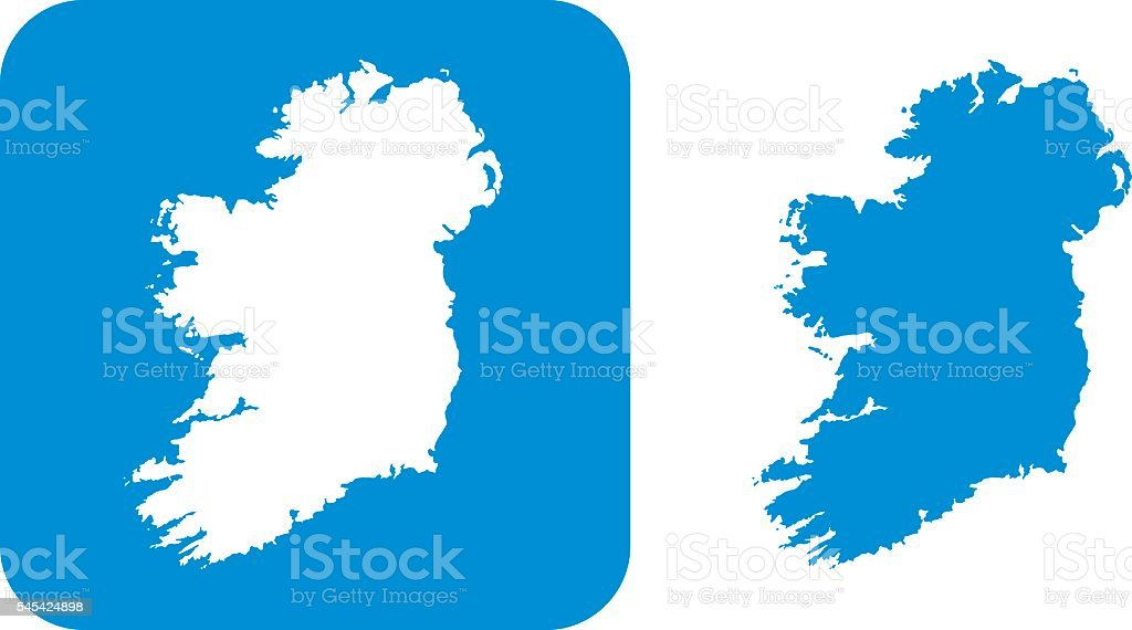 Blue Ireland Icon vector art illustration