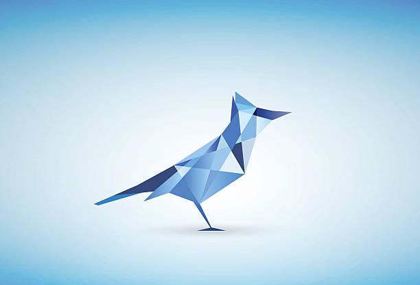 Blue Jay Bird Illustration vector art illustration