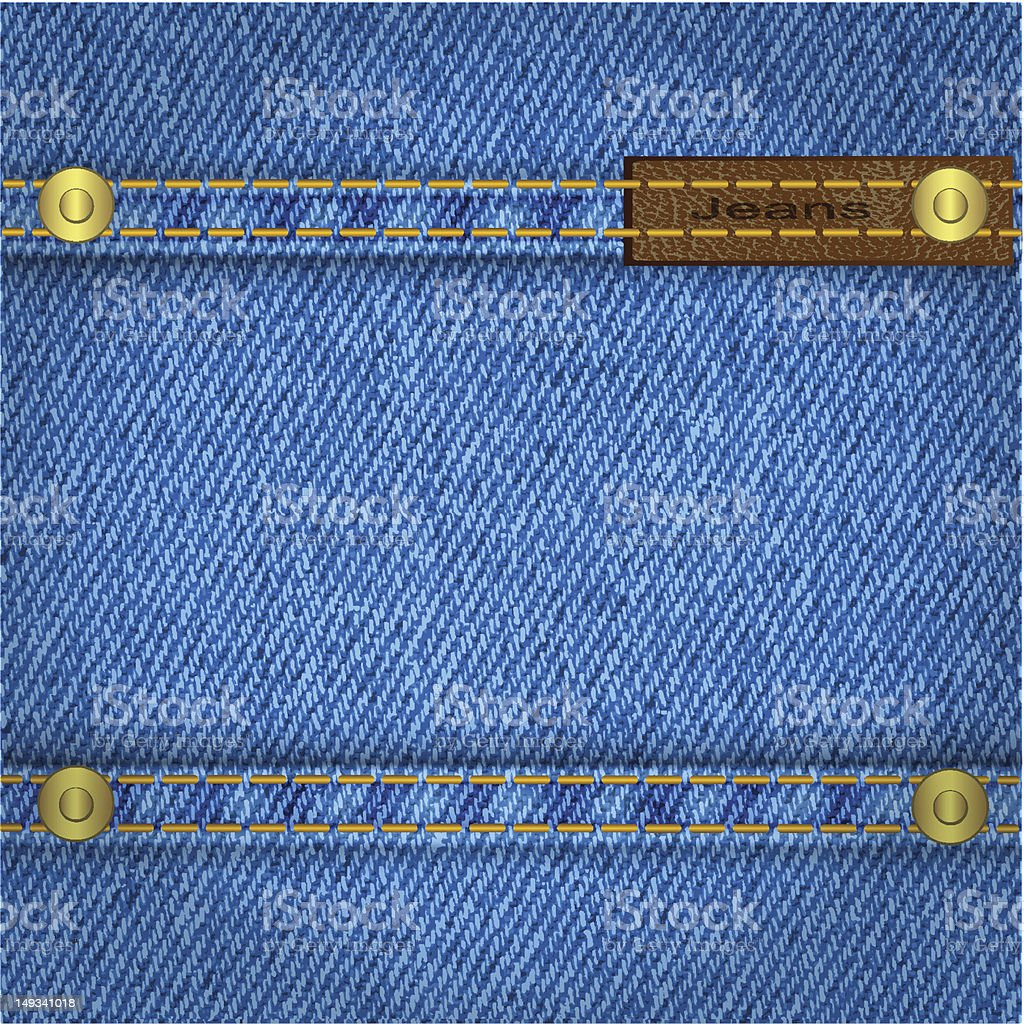 Blue jeans background royalty-free stock vector art
