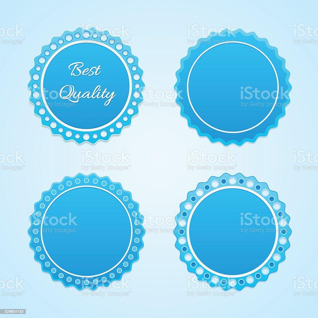 Blue lables. vector art illustration