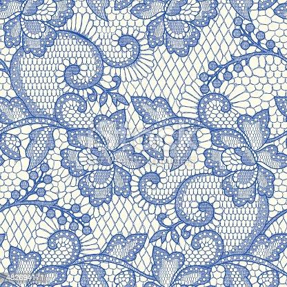 istock Blue Lace Seamless Pattern. 482694171