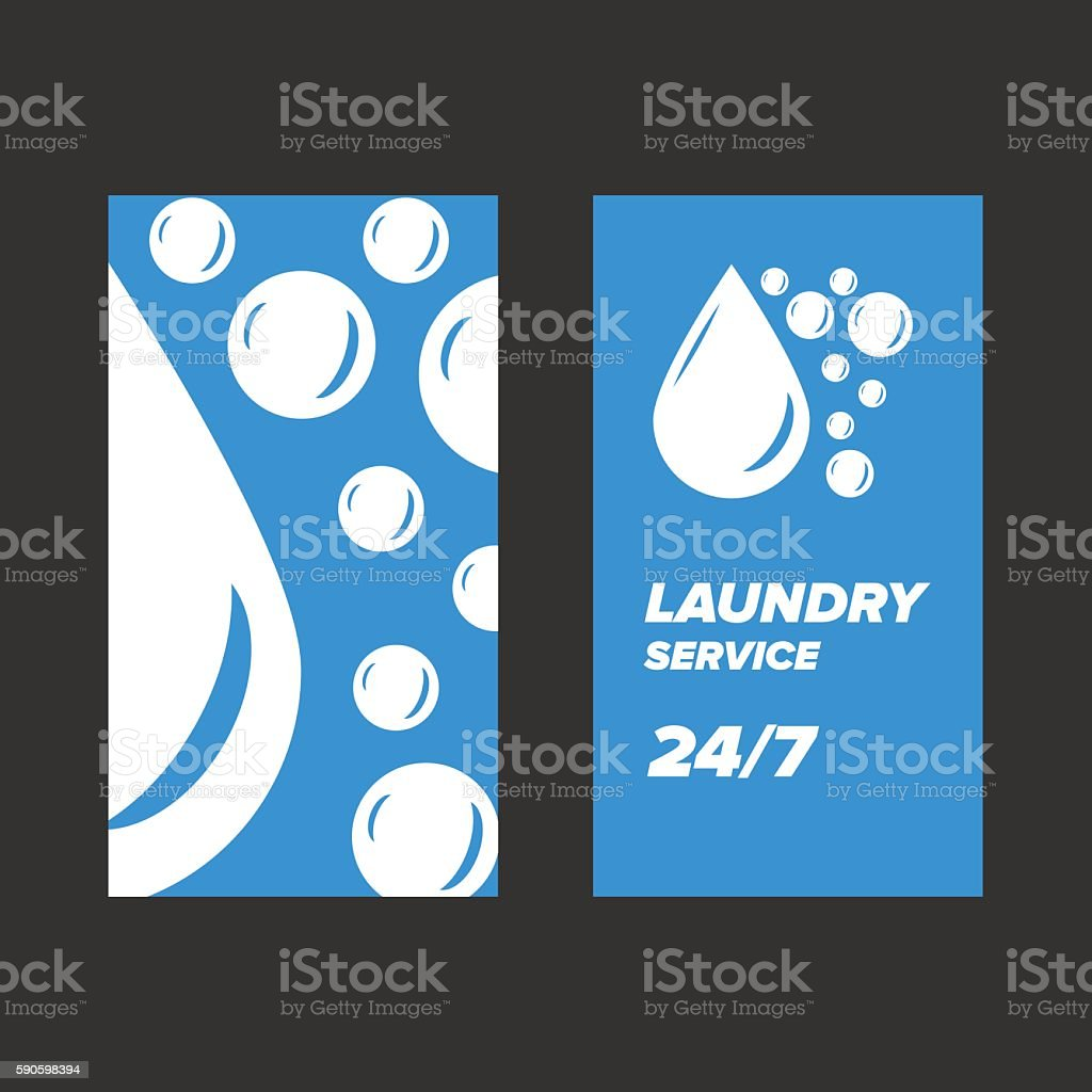 Blue laundry service business card stock vector art 590598394 istock blue laundry service business card royalty free stock vector art magicingreecefo Gallery