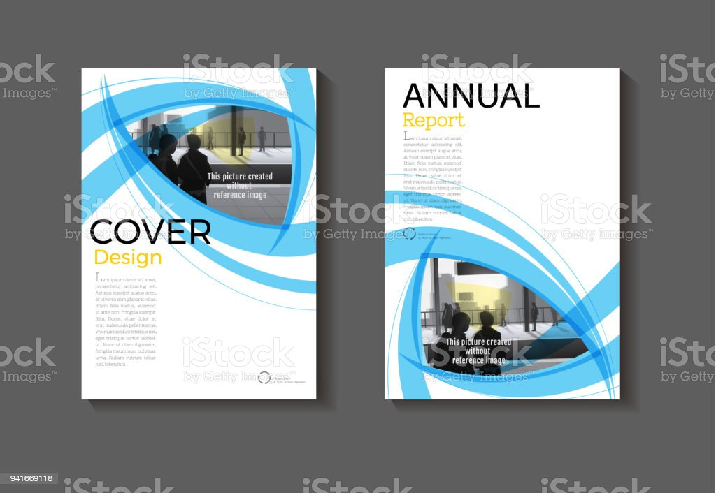 Blue Layout Abstract Background Modern Cover Design Book Brochure Templateannual