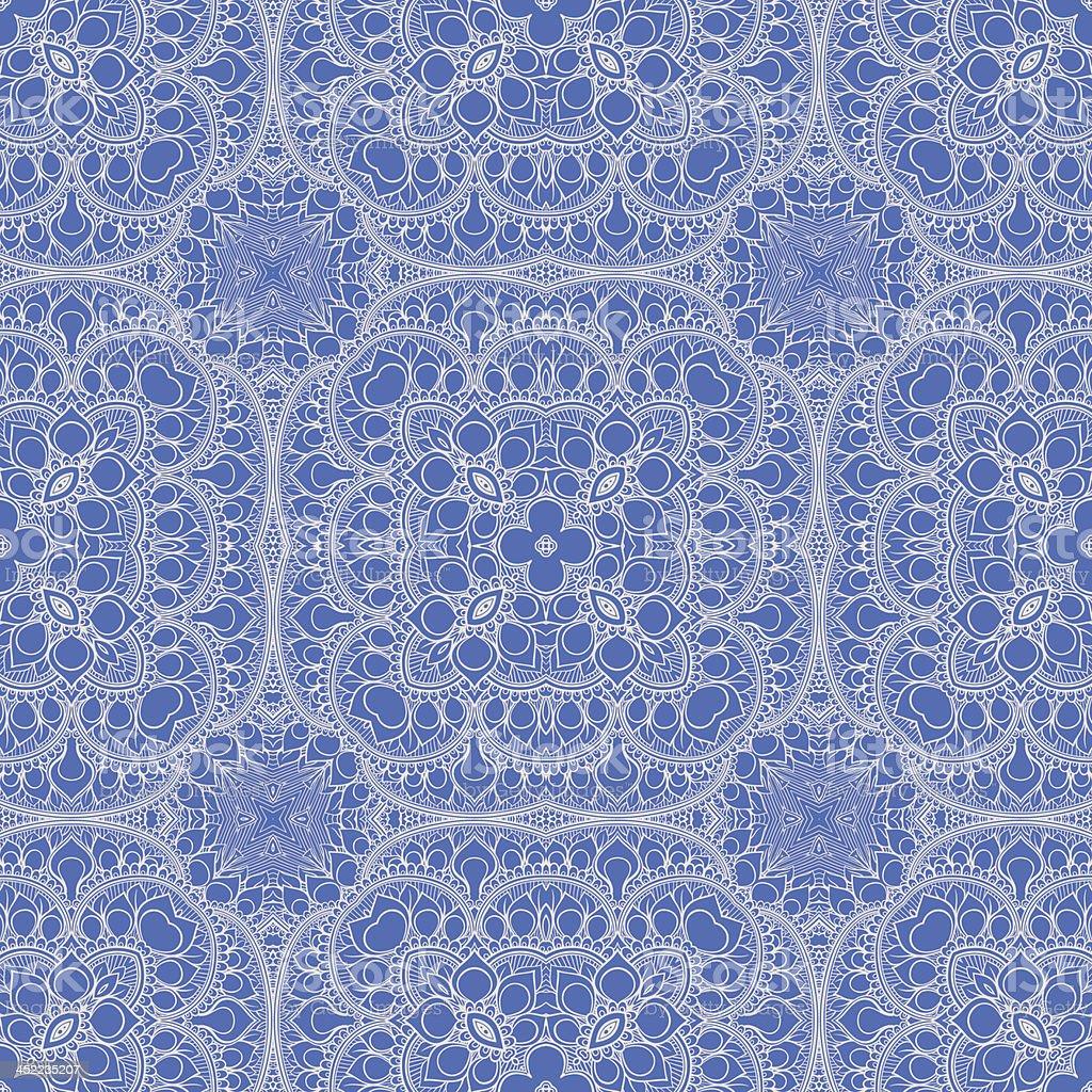 blue leaf pattern royalty-free stock vector art