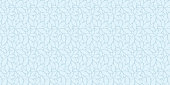 Blue leaves seamless pattern vector background