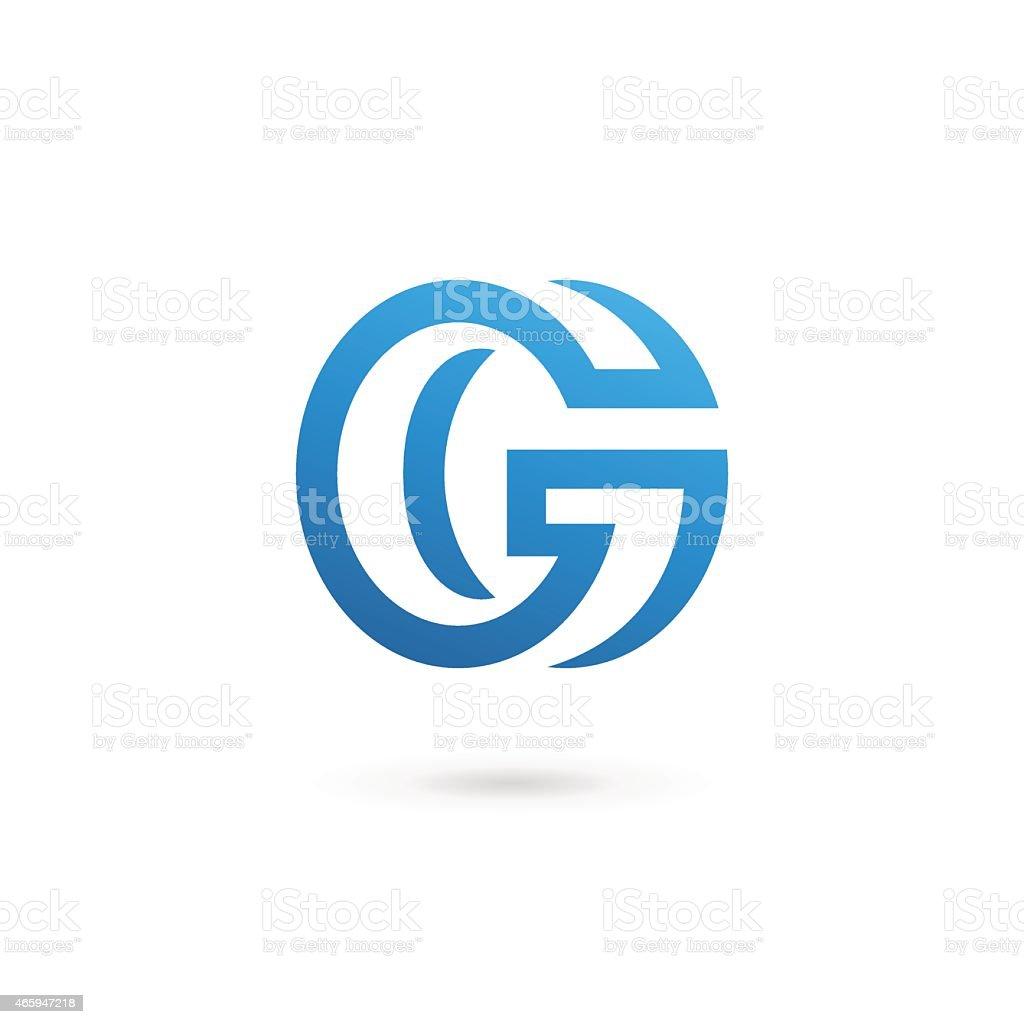 blue letter g design template in white background stock vector art