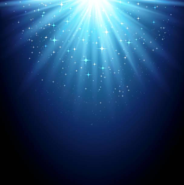 파란색 단궤 배경 - 밝은 빛 stock illustrations