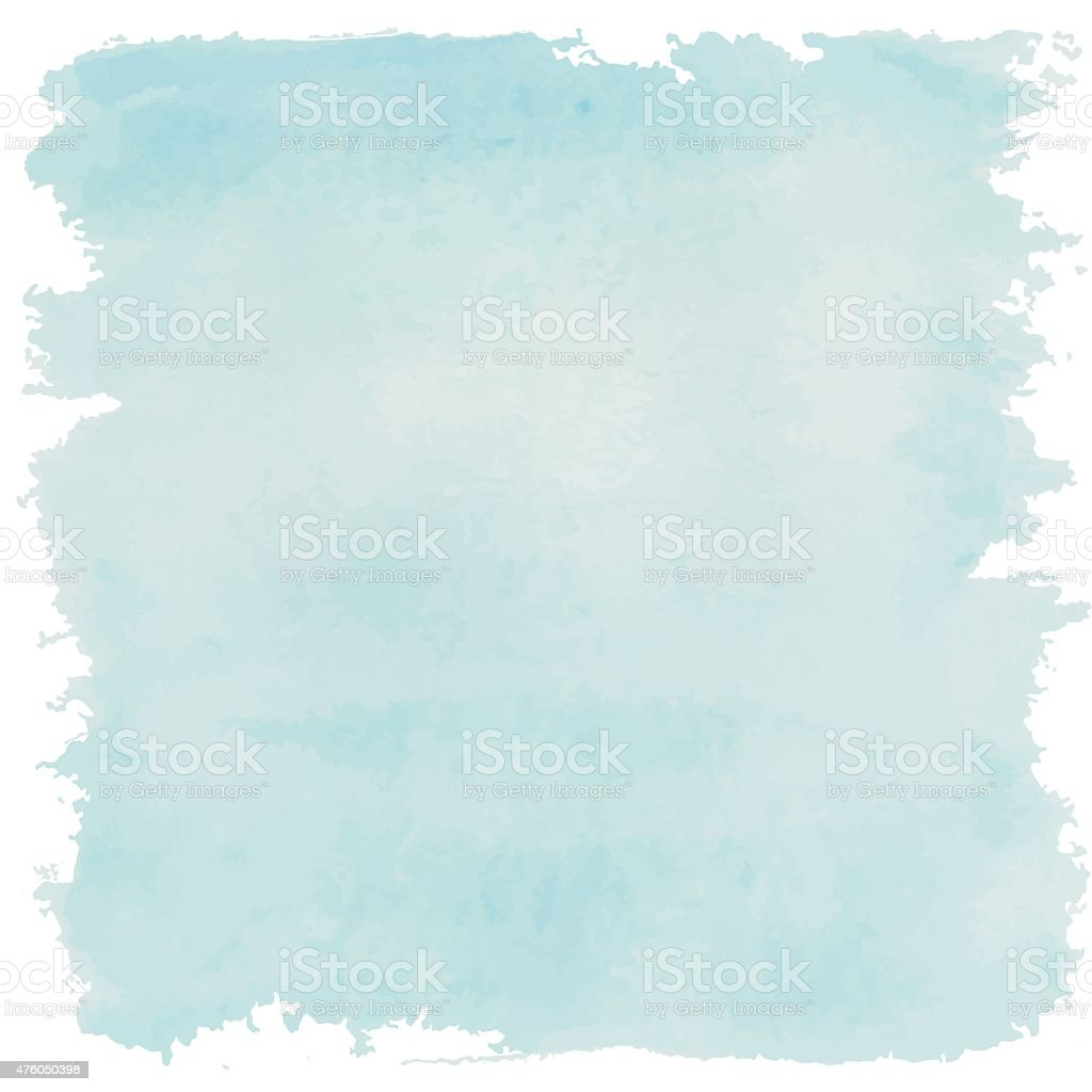 blue light paint watercolor vintage and isolate on white backgro vector art illustration