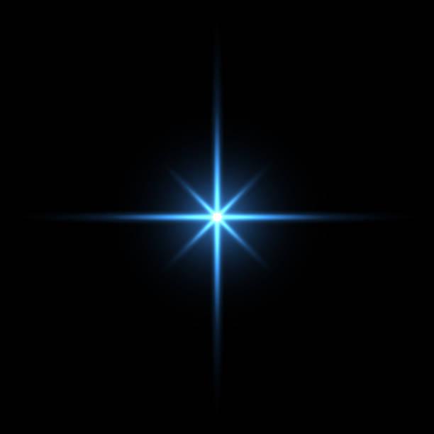 黒い背景に青い光の星 - 光 黒背景点のイラスト素材/クリップアート素材/マンガ素材/アイコン素材