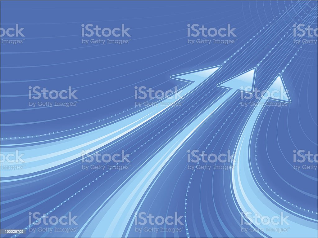 Blue Light vector art illustration