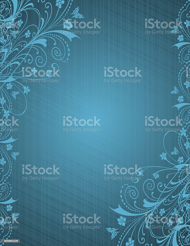 Blue Linen Scrolls royalty-free blue linen scrolls stock vector art & more images of 2000-2009