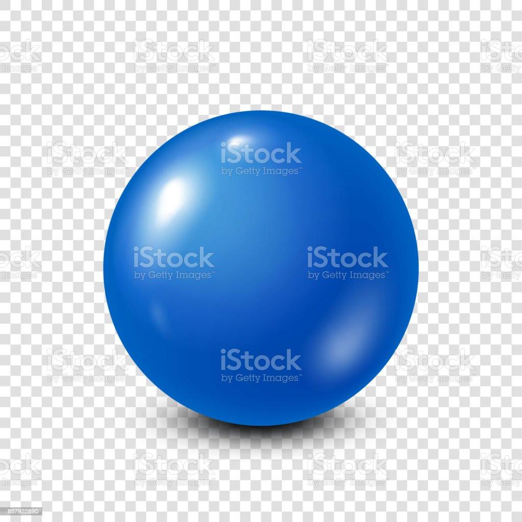 Blue lottery, billiard,pool ball. Snooker. Transparent background. Vector illustration vector art illustration