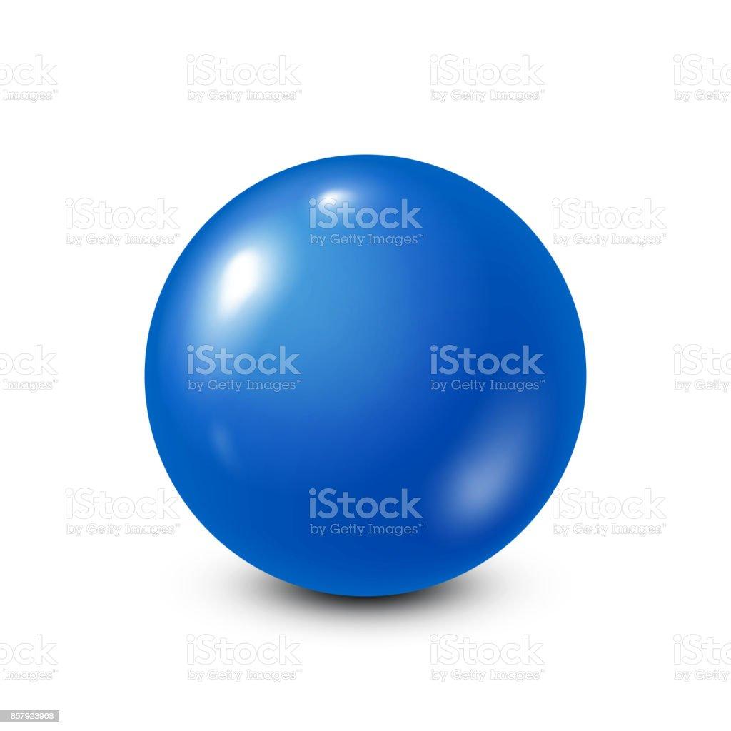 Blue lottery, billiard,pool ball. Snooker. White background. Vector illustration vector art illustration