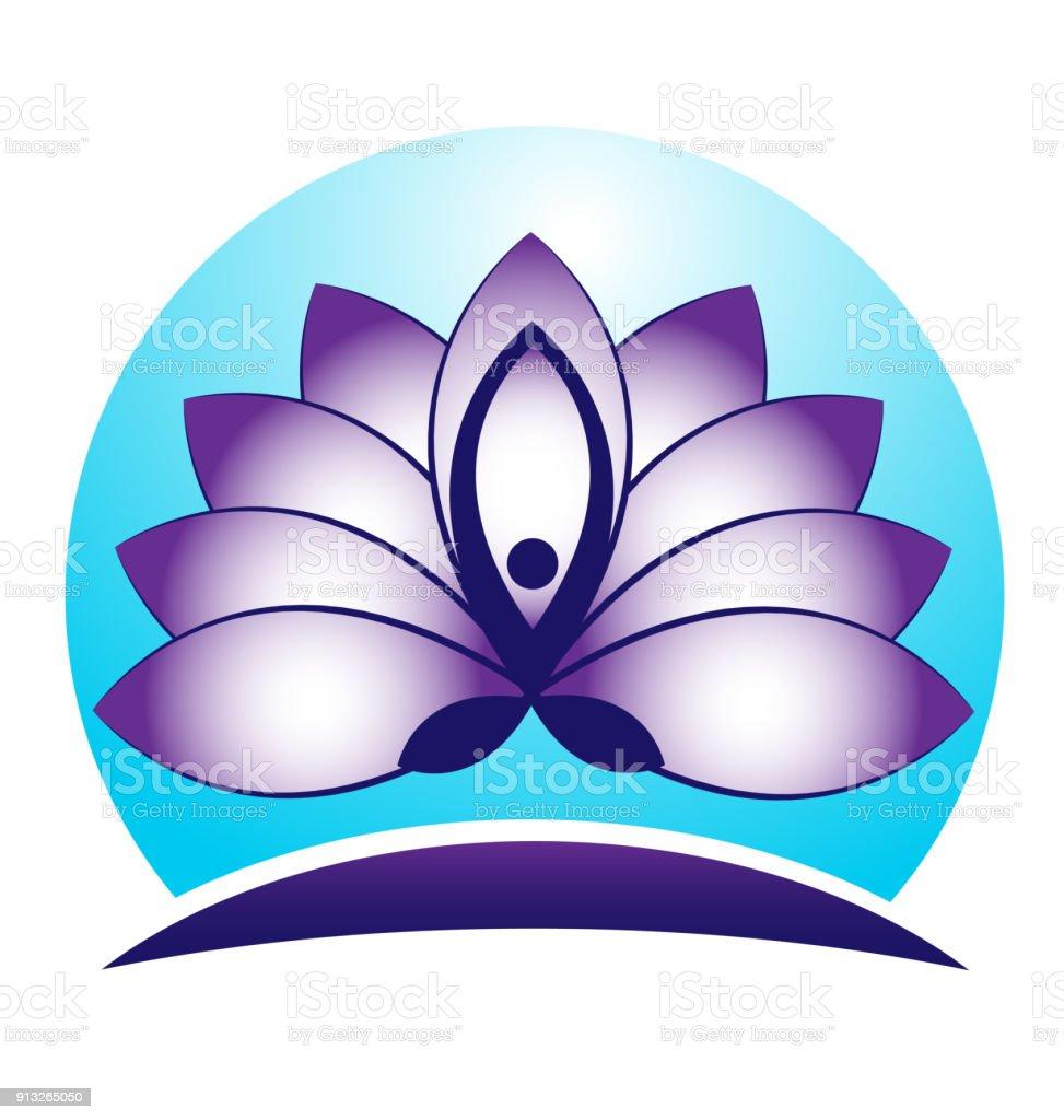 Blue lotus flower spa id card business icon vector stock vector art blue lotus flower spa id card business icon vector royalty free blue lotus flower spa izmirmasajfo