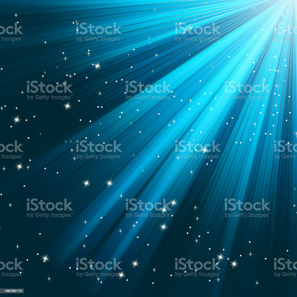Blue luminous rays. EPS 8 royalty-free blue luminous rays eps 8 stock vector art & more images of abstract