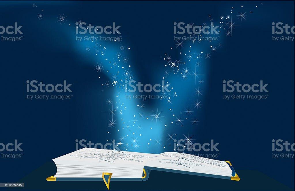 Blue magic book royalty-free stock vector art