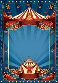 Blue magic circus poster