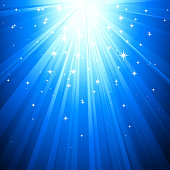 Vector illustration blue magic light. EPS10.