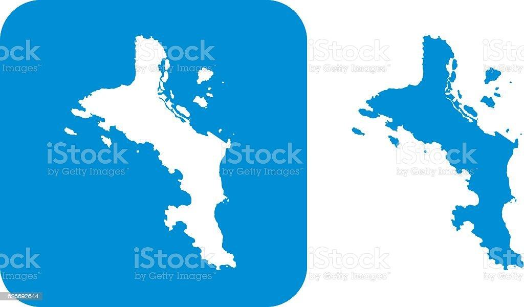 Blue Mahe Island icons vector art illustration