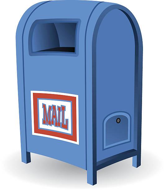 Blue Mailbox vector art illustration